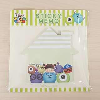 Disney Tsum Tsum Monster University Green Colour House Shape Sticky Memo Writting Note Pad