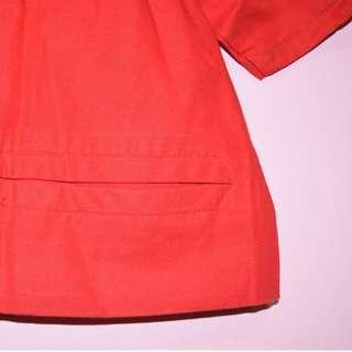 Pisanti Paris Cropped Red Blouse