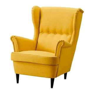Arm Chair Ike Strandmon Yellow