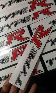 #MMAR18 Type r Car Sticker