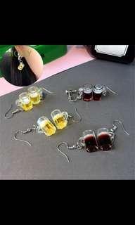 🚚 Harajuku Beer earrings
