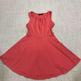 Nichii OrangeyPink Cotton Dress  #BlackFriday100