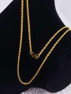 Ready No Waiting 916 Gold Necklace