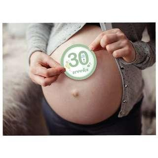 🚚 16pcs Pregnancy Baby Belly Bump Weekly Milestone Sticker