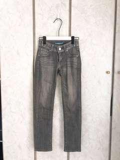 🚚 [正版-levi's]lady style灰色直筒刷色牛仔褲