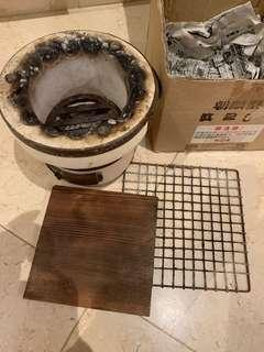 Charcoal Japanese's shall stone stove