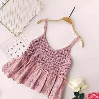 Crochet Top Pink #MMAR18