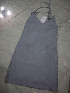 🚚 The editors market TEM tie pinstripe dress