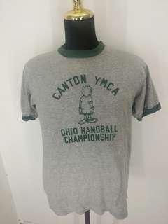 Vintage canton ymca ringer t shirt