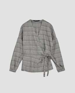 Zara gray blouse