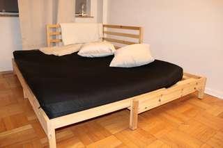 Double guest bed & futon