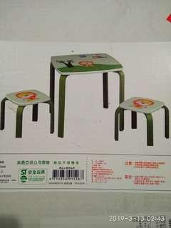 🚚 一桌兩椅-3歲以上~需組裝