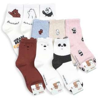 🚚 We Bare Bears Official Crew Socks