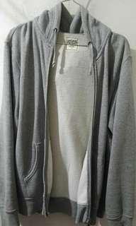 Grey Zipper Hoodie Uniqlo Authentic