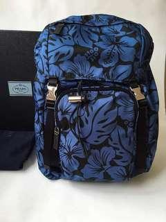 Authentic Prada Stampato Hibiscus Backpack