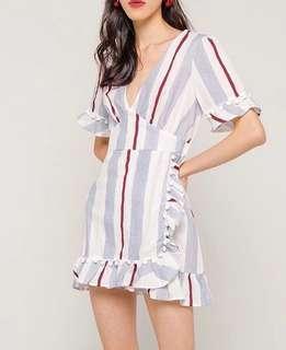 Stripes Pom Pom Dress