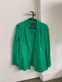 Lily Green Loose Fit Blazer