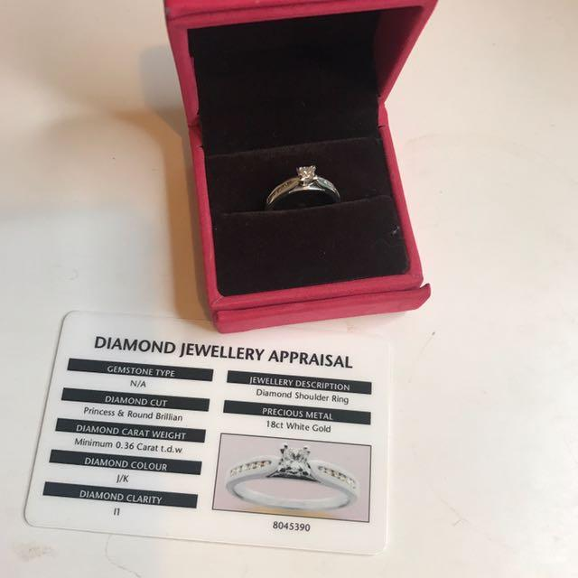 0.36 car diamond ring