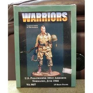 【原裝正版※樹脂兵】1/9 WARRIORS U.S. PARATROOPER 101ST AIRBORNE NORMANDY,JUNE 1944 WA 9057 RESIN FIGURE By John Rosengrant