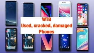 Want to buy (WTB) Used and Spoilt Phones. Cracked LCD Phone, Phone buy back, pending Phone repair, Samsung crack screen
