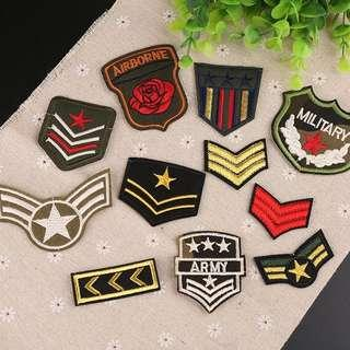 🚚 11pcs Military Army Sew Iron On Patches Set