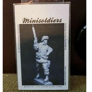 【原裝正版※樹脂兵】1/35 Minisoldiers Miniatures #MS 0014 PVT. 101ST DIVISION(DESERT STORM) Sulpted by Dmitry Shevts ov