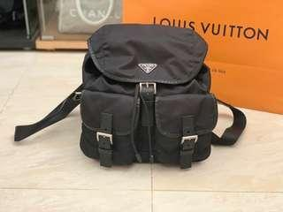 Authentic Prada Nero Vela Medium Backpack