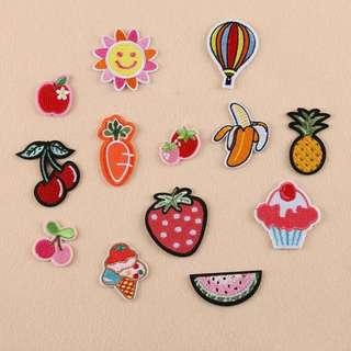 🚚 13pcs Assorted Cute Iron Sew On Patches