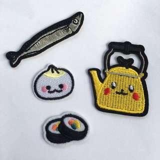 🚚 4pcs Cute Foodie Iron Sew On Patches