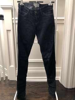 CURRENT/ELLIOTT The Skinny Jeans (dark wash)