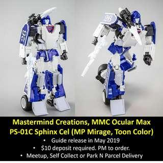 [Preorder] Mastermind Creations, MMC Ocular Max, PS-01C Sphinx Cel (MP Mirage, Toon color)