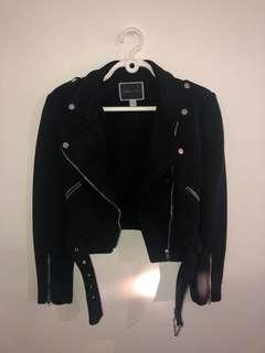 Suede motorcycle jacket size M