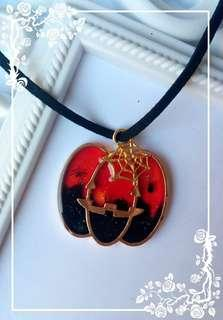 Pumpkin Halloween Necklace