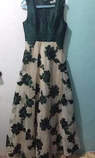 HIP CULTURE GREEN LONG GOWN FOR RENT