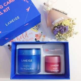 🚚 ✨INSTOCK SALE! Laneige Sleeping Care Special Kit(Water Sleeping Mask 70ml + Lip Sleeping Mask 20g)