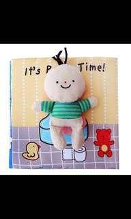 🚚 Potty training soft cloth book figurine detectable doll teach kids play fun Montessori life skills