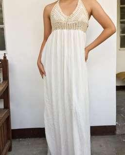 ZARA Crochet Maxi Dress
