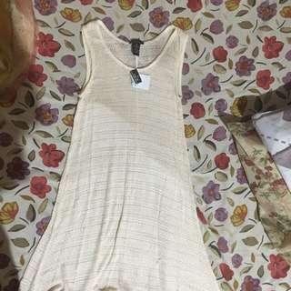 Rue 21 Flowy Cream Dress