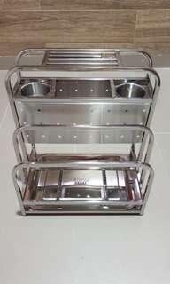 Kitchen rack for knife, chopping board,etc