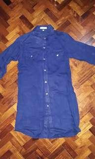 Blue dress or long top