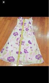 🚚 BN Purple Poppy Floral Dress/ Party Dress/ Evening Dress/ CNY dress/ Lavender dress  S size