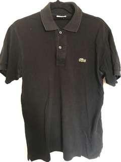 Lacoste polo black size 2