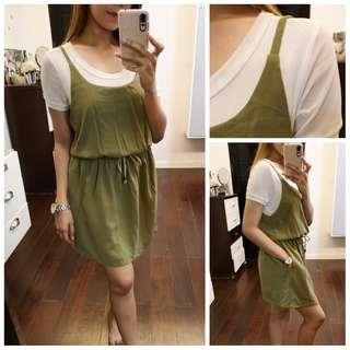 Army Green Jumpsuit Dress
