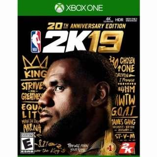 🚚 NBA 2K19 20th Anniversary Edition (Xbox one, Ps4 and Nintendo Switch)