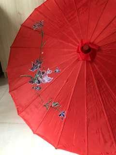 Wedding hand painted traditional umbrella