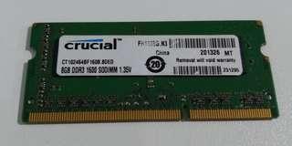 🚚 Laptop Ram Crucial 8gb DDR3