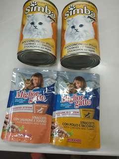 貓罐頭 + 貓小食
