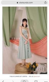🚚 Store Unda Thalia Summer Set (Green)