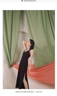 🚚 Store Unda Rheia Slip Dress (Black)