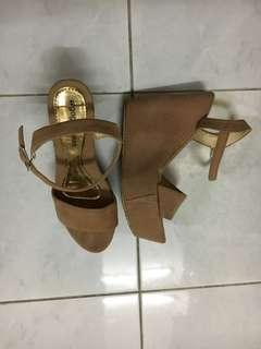 Wedges in Nude